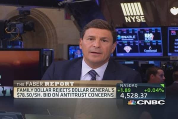 Faber Report: Family Dollar rejects Dollar General's bid