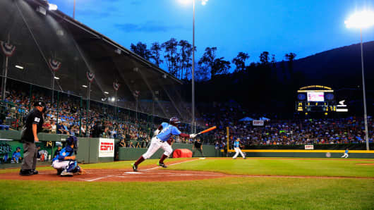 Little League World Series tournament at Lamade Stadium on August 20, 2014 in South Williamsport, Pennsylvania.