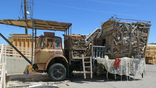 "A truck called ""Ras Gamal"" by its creators will be heading to the Burning Man festival."