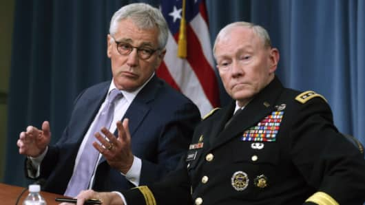 Secretary of Defense Chuck Hagel and Chairman of the Joint Chiefs of Staff General Martin Dempsey