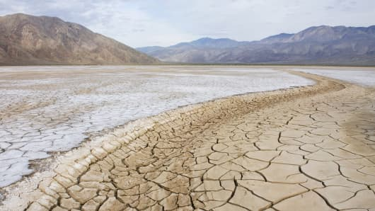 California mountains dry lake