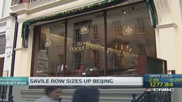 China the perfect fit for London's $6,000 luxe tailors