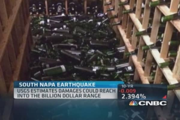 Earthquake impacts wineries