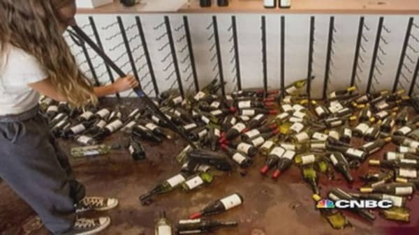 Earthquake rocks California wine country