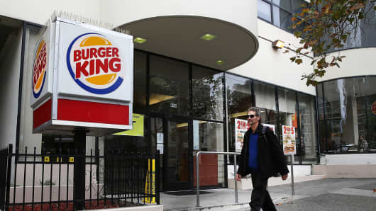 A Burger King restaurant in San Francisco.