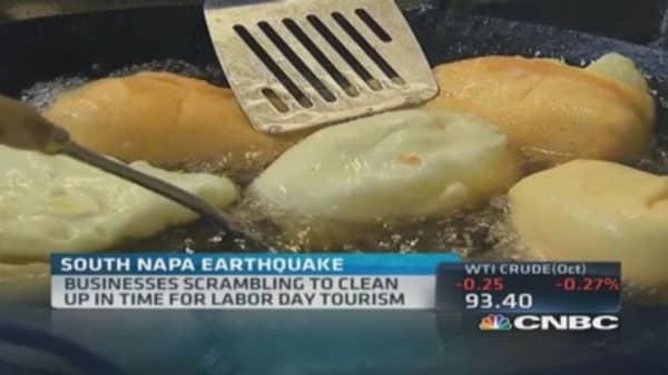 Sunday's Napa quake fallout