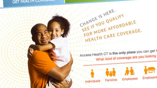 Home page of Access Health CT