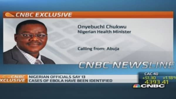 Ebola 'contained' in Nigeria: Minister