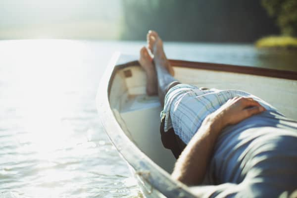 Vacation relaxing rowboat