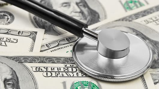 Health care, costs, dollar, stetoscope