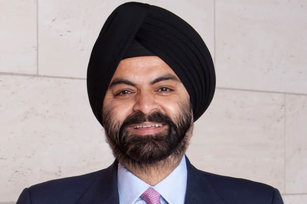 Ajay Banga, chief executive of Mastercard