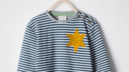 "Striped ""Sheriff"" t-shirt on Zara"