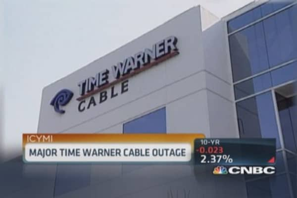 Time Warner Cable suffers major outage across US