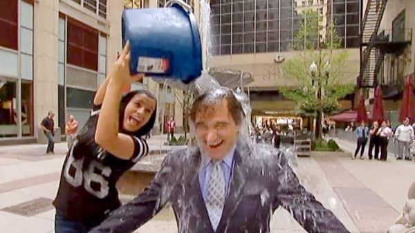 CNBC editor Rick Santelli ice bucket challenge