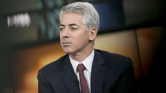 Pershing Square Capital Management CEO Bill Ackman pauses during an interview in New York.