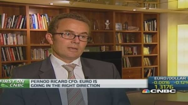 Strong dollar 'good' for Pernod Ricard: CFO