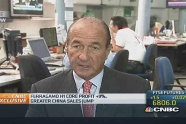 China is volatile but positive: Ferragamo CEO