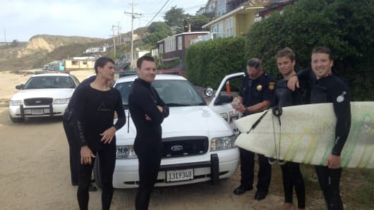 Surfers were arrested in 2012 after bypassing a locked gate to reach Martins Beach in San Mateo County, California.