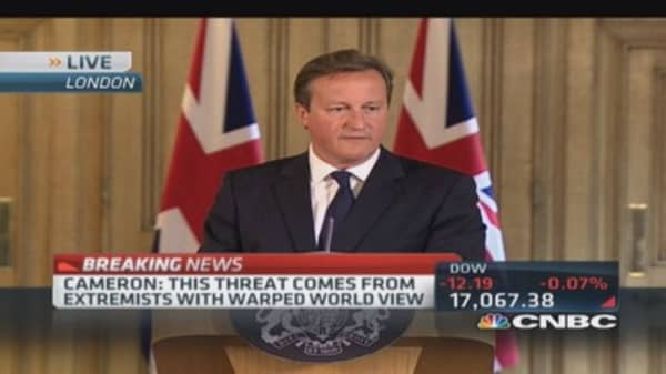 UK PM Cameron: Need firm security response against terrorists
