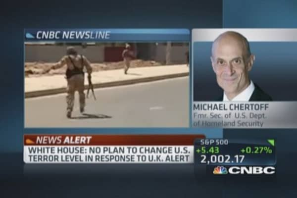 UK facing bigger threat than US: Chertoff