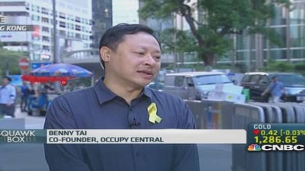 Occupy Central: China's ruling is an injustice