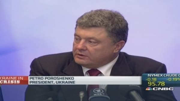 Close to 'point of no return': Ukraine's Poroshenko