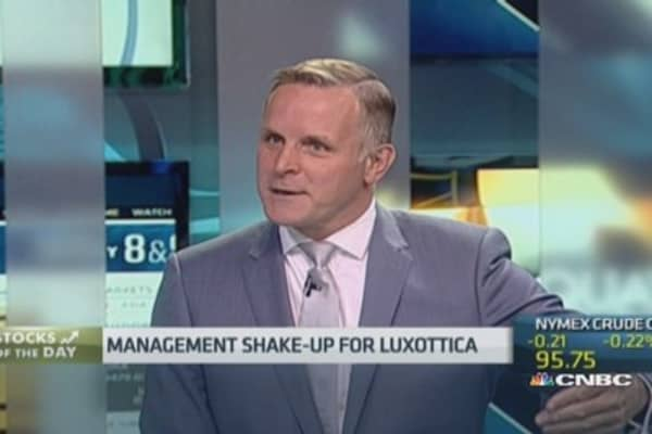 Luxottica CEO steps down amid shake-up at top