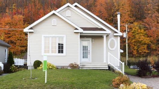 House For Sale fall foliage autumn