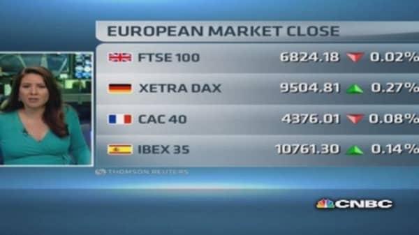 European market closes slightly lower