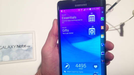 Samsung Galaxy Note Edge from presentation, September 3, 2014.