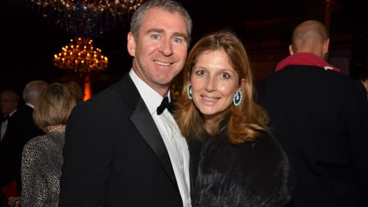 Ken Griffin and Anne Dias Griffin attended the Whitney Museum of American Art's fall gala in New York in 2011.