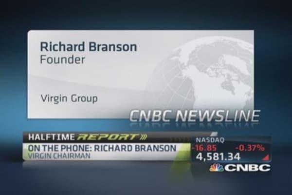 Richard Branson's son fine after Virgin Strive Challenge
