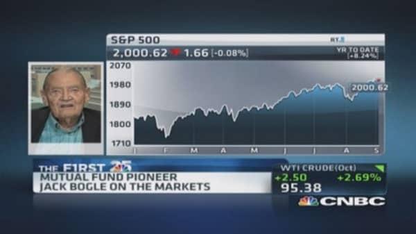 Bogle: QE helped the business side