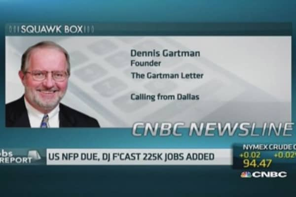 'Pay little attention' to US jobs report: Gartman