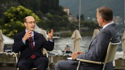 Kenneth Rogoff, professor of economics at Harvard University, talks with CNBC's Steve Sedgwick at the Ambrosetti forum, Italy