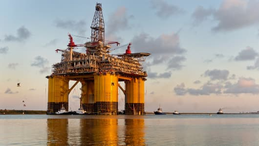 A Royal Dutch Shell platform