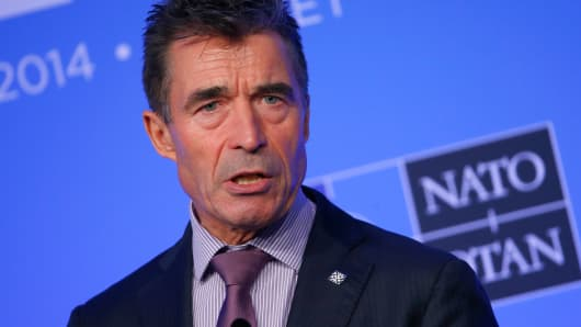 NATO Secretary General Anders Fogh Rasmussen speaks September 5, 2014.