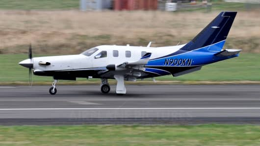 A SOCATA TBM 900 single-engine, turboprop plane is shown in this undated photo.