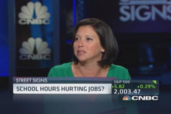 School hours hurting jobs?