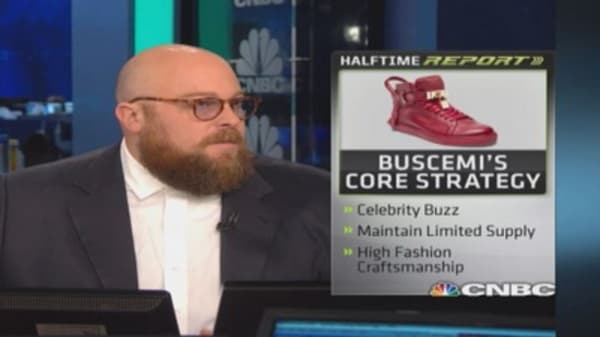 Bieber boost for luxury Buscemi shoes