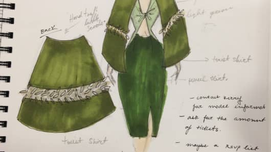 Project Subway hits the catwalk on Tuesday. Shown here is a look inspired by a jalapeno.