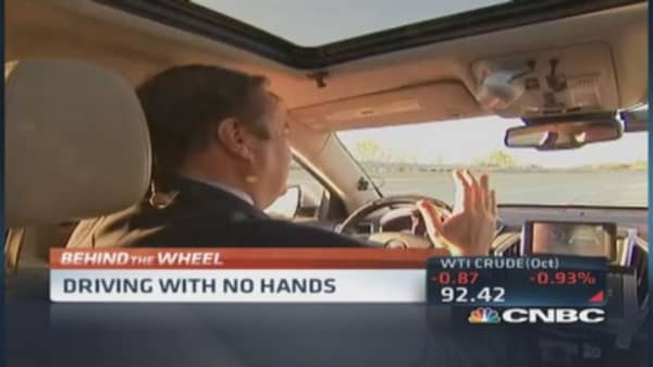 Driving without hands