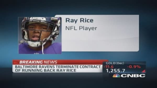 Baltimore Ravens terminate Rice's contract