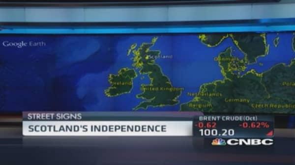 Short pound ahead of Scotland vote?