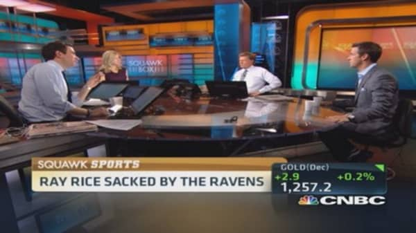 Ray Rice sacked by Ravens