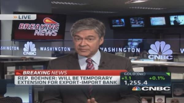 Rep. Boehner: Temporary extension for Ex-Im Bank