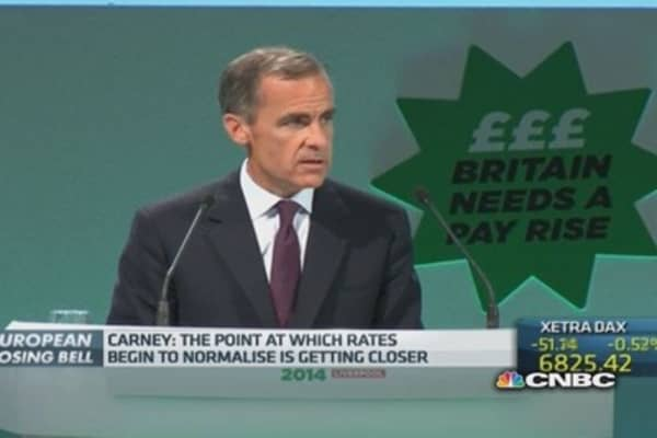 Carney: Rate normalization time nears