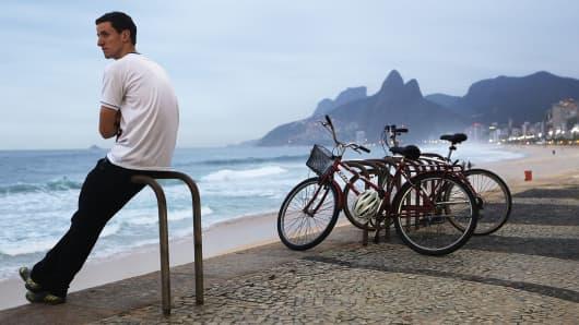 Ipanema beach, in Rio de Janeiro, Brazil.