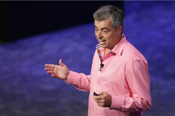 Apple Senior Vice President Eddie Cue discusses Apple Pay, the company's new mobile payments solution, at the Apple Special event