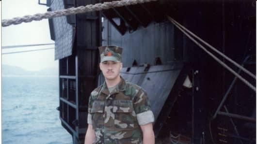 Patrick Smith in the U.S. Marine Corps.